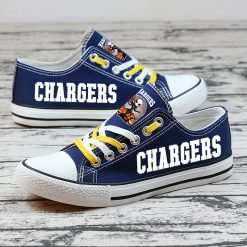 Chargers Halloween Jack Skellington Canvas Sneakers