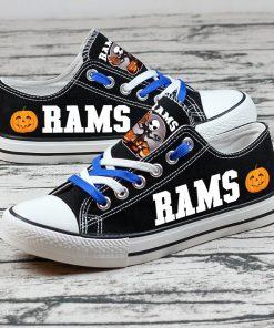 Los Angeles Rams Halloween Jack Skellington Canvas Sneakers
