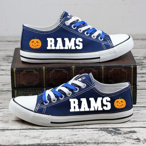 Los Angeles Rams Halloween Jack Skellington Canvas Shoes Sport
