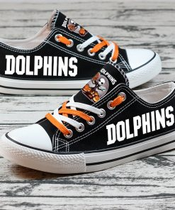 Miami Dolphins Halloween Jack Skellington Canvas Sneakers