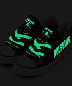 Miami Dolphins Halloween Jack Skellington Canvas Shoes Sport