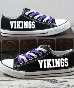 Minnesota Vikings Halloween Jack Skellington Canvas Sneakers