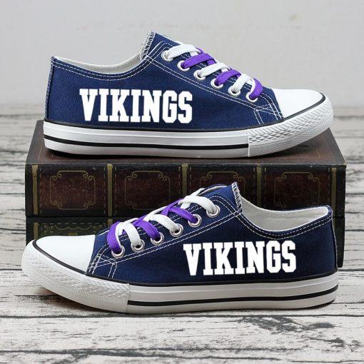 Minnesota Vikings Halloween Jack Skellington Canvas Shoe Sport
