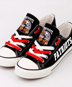 New England Patriots Halloween Jack Skellington Canvas Shoe Sport