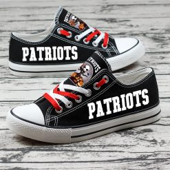 New England Patriots Halloween Jack Skellington Canvas Shoe Sport