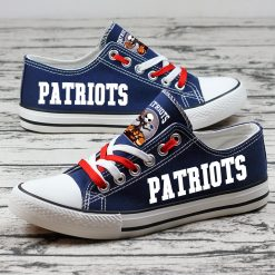 New England Patriots Halloween Jack Skellington Canvas Sneakers