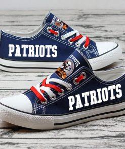 New England Patriots Halloween Jack Skellington Canvas Sneakers