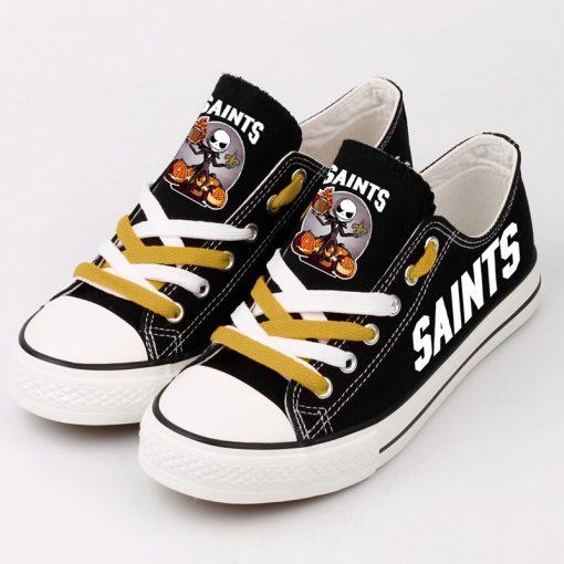 New Orleans Saints Halloween Jack Skellington Canvas Sneakers