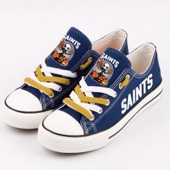 New Orleans Saints Halloween Jack Skellington Canvas Shoe Sport