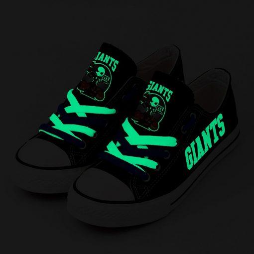 New York Giants Halloween Jack Skellington Canvas Sneakers