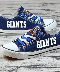 New York Giants Halloween Jack Skellington Canvas Shoes Sport