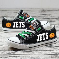 New York Jets Halloween Jack Skellington Canvas Shoes Sport