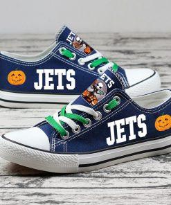 New York Jets Halloween Jack Skellington Printed Canvas Sneakers
