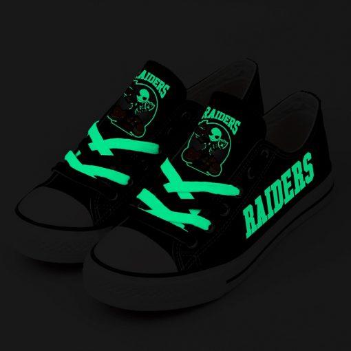 NFL Oakland Raiders Halloween Jack Skellington Canvas Shoes Sport