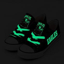 Philadelphia Eagles Halloween Jack Skellington Canvas Sneakers