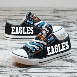 Philadelphia Eagles Halloween Jack Skellington Canvas Sneakers