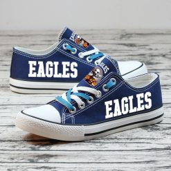 Philadelphia Eagles Halloween Jack Skellington Canvas Shoes Sport