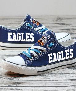 Philadelphia Eagles Halloween Jack Skellington Canvas Shoes Sport
