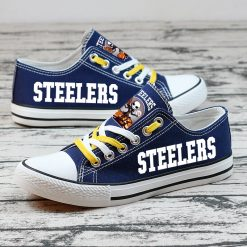 Pittsburgh Steelers Halloween Jack Skellington Canvas Sneakers