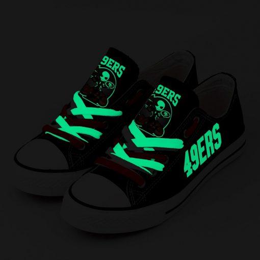San Francisco 49ers Halloween Jack Skellington Canvas Sneakers