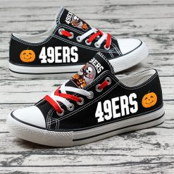 San Francisco 49ers Halloween Jack Skellington Canvas Sneakers