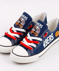 San Francisco 49ers Halloween Jack Skellington Canvas Shoes Sport