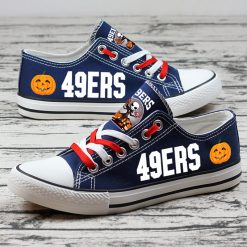 San Francisco 49ers Halloween Jack Skellington Canvas Shoes Sport