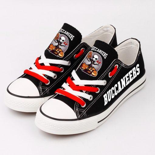 Tampa Bay Buccaneers Halloween Jack Skellington Canvas Sneakers