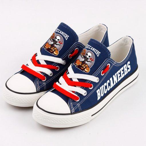 Tampa Bay Buccaneers Halloween Jack Skellington Canvas Shoes Sneakers