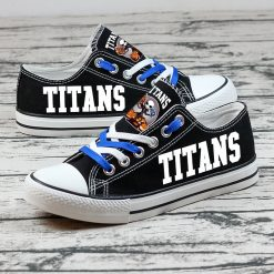 Tennessee Titans Halloween Jack Skellington Canvas Shoes Sport