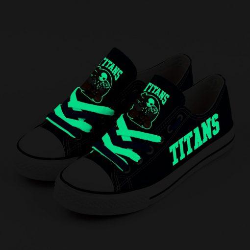 Tennessee Titans Halloween Jack Skellington Printed Canvas Sneakers