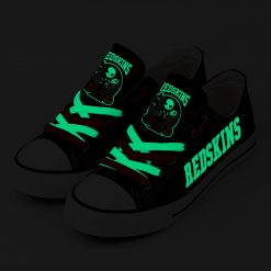 Washington Redskins Halloween Jack Skellington Printed Canvas Sneakers