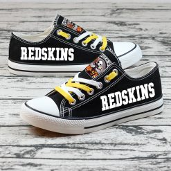 Washington Redskins Halloween Jack Skellington Printed Canvas Sneakers
