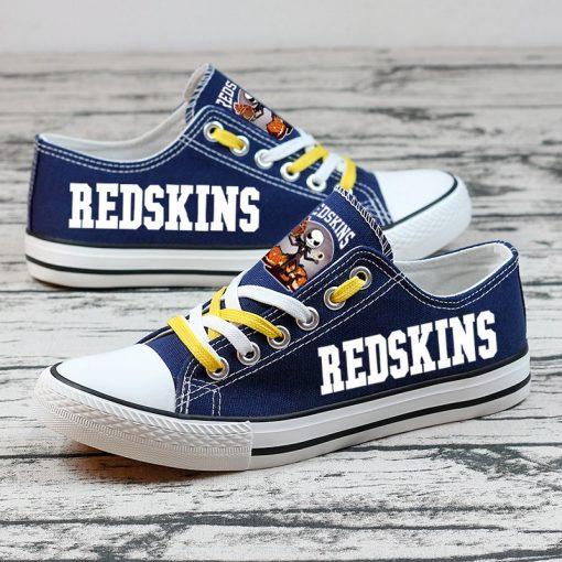 Washington Redskins Halloween Jack Skellington Canvas Shoes Sport