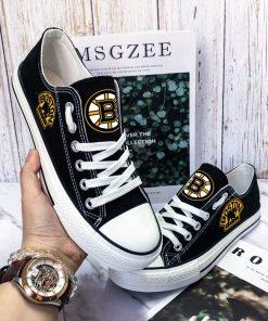 Boston Bruins Fans Low Top Canvas Shoes Sport