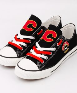 Calgary Flames Fans Low Top Canvas Shoes Sport