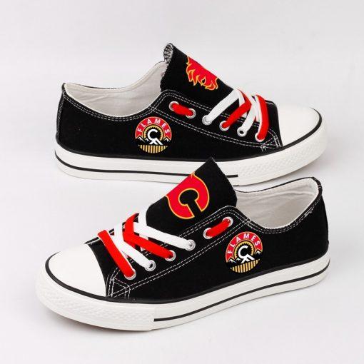 Calgary Flames Fans Low Top Canvas Shoes Sport