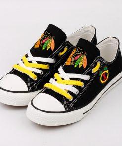 Chicago Blackhawks Fans Low Top Canvas Shoes Sport