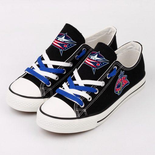Columbus Blue Jackets Low Top Canvas Shoes Sport