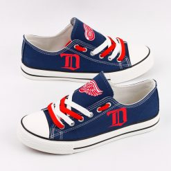 Detroit Red Wings Fans Low Top Canvas Sneakers
