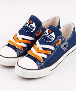 Edmonton Oilers Fans Low Top Canvas Shoes Sport