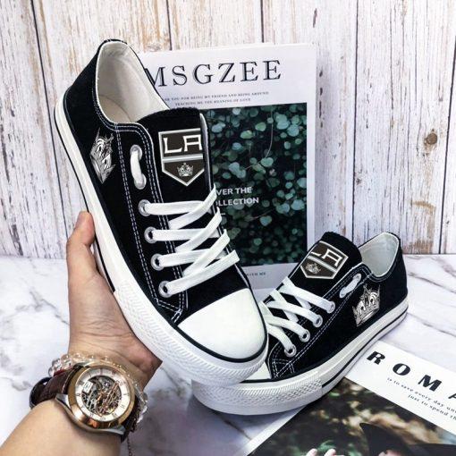 Los Angeles Kings Fans Low Top Canvas Sneakers