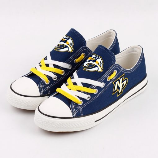 Nashville Predators Fans Low Top Canvas Shoes Sport