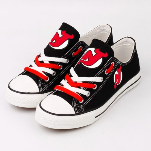 New Jersey Devils Fans Low Top Canvas Sneakers