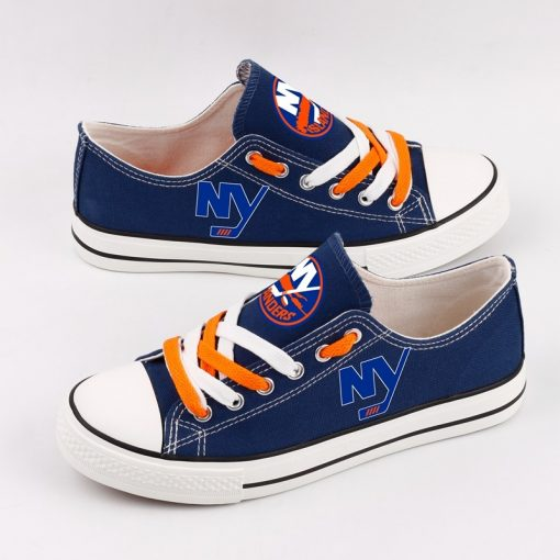 New York Islanders Fans Low Top Canvas Shoes Sport