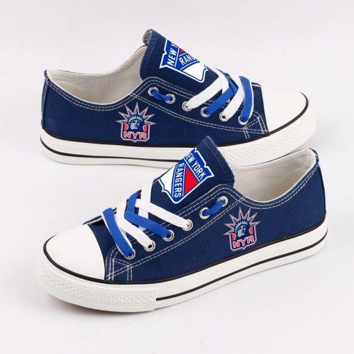 New York Rangers Fans Low Top Canvas Shoes Sport