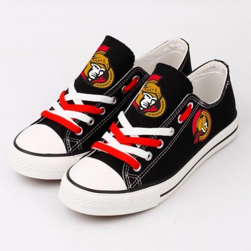 NHL Ice Hockey Ottawa Senators Fans Low Top Canvas Shoes Sport Sneakers T DWAA21H 1584174500940 0