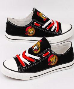 Ottawa Senators Fans Low Top Canvas Shoes Sport