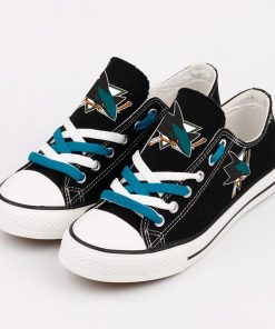 San Jose Sharks Fans Low Top Canvas Shoes Sport