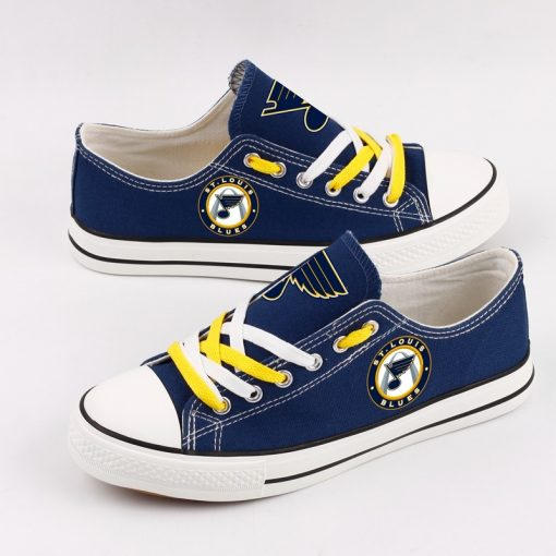 St. Louis Blues Fans Low Top Canvas Shoes Sport